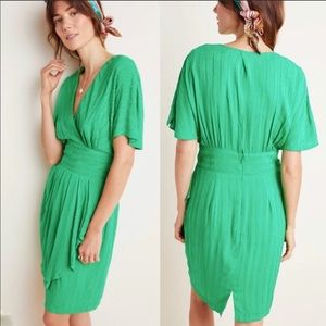 Anthropologie Aryessa Cardall Textured Green Dress